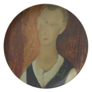 Young Man with a Black Waistcoat, 1912 (oil on can Plate