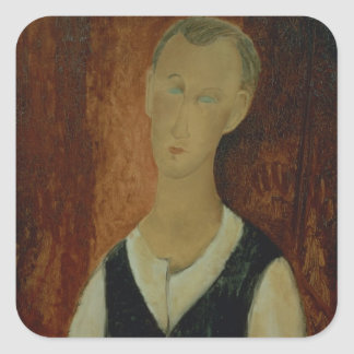 Young Man with a Black Waistcoat 1912 oil on can Sticker