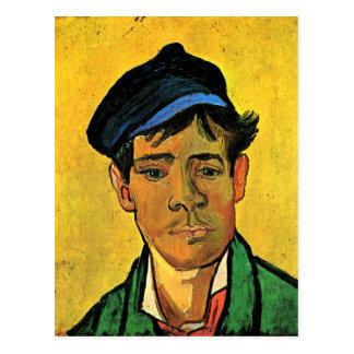Young Man with a Cap, Vincent van Gogh Postcard