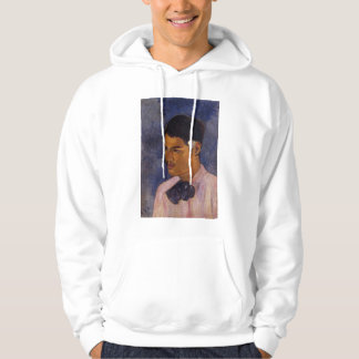 'Young Man With a Flower' - Paul Gauguin Hoodie