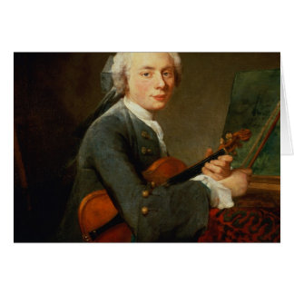 Young Man with a Violin Greeting Card