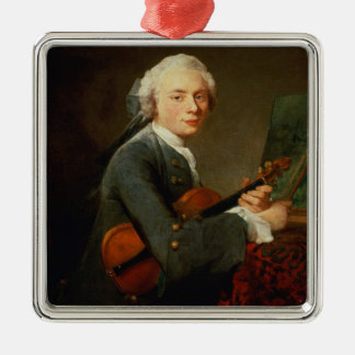 Young Man with a Violin Metal Ornament