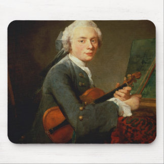 Young Man with a Violin Mouse Pad