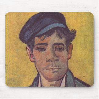 Young man with Caps - Vincent Van Gogh Mouse Pad
