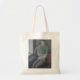 Young Man with Cat 2008 Budget Tote Bag