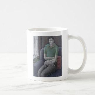Young Man with Cat 2008 Coffee Mug