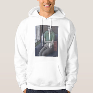 Young Man with Cat 2008 Hoodie