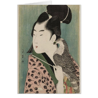 Young Man with Falcon Greeting Card