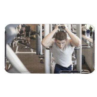 Young man working out his triceps on a cable iPod touch Case-Mate case