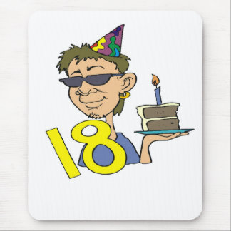 Young Man's 18th Birthday Gifts Mouse Pad