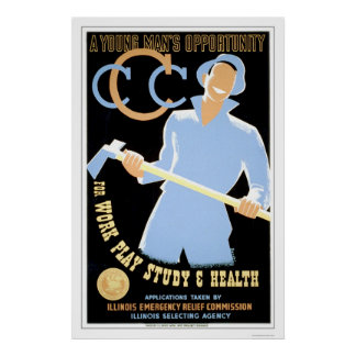 Young Mans Opportunity 1941 WPA Poster