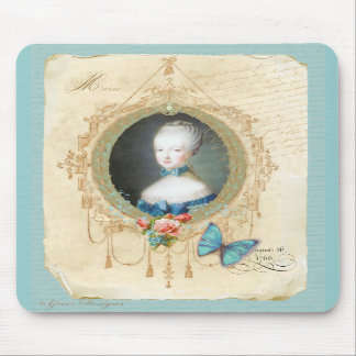 Young Marie Antoinette n Butterfly Art Mousepad