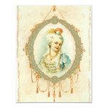 "Young Marie Antoinette Portrait Invitations 4.25"" X 5.5"" Invitation Card"