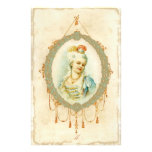Young Marie Antoinette Portrait Stationery Design