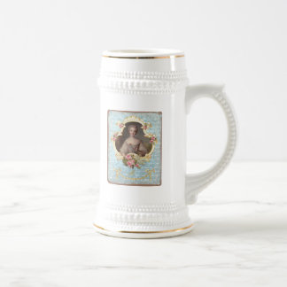 Young Marie Antoinette with Pink Roses Beer Stein