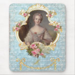 Young Marie Antoinette with Pink Roses Mousepads