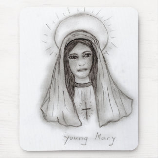 Young Mary Mouse Pad
