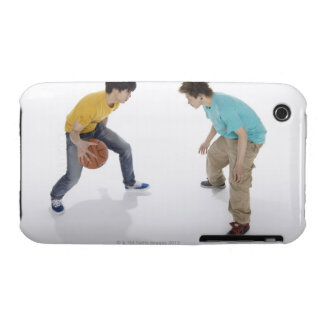 Young men playing basketball iPhone 3 Case-Mate cases