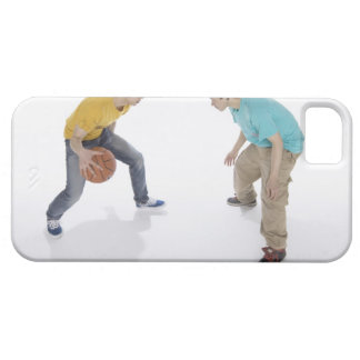 Young men playing basketball iPhone SE/5/5s case