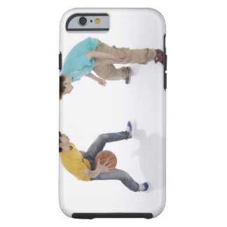 Young men playing basketball tough iPhone 6 case