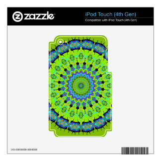 Young Modern Puce and Blue Kaleidoscope iPod Touch 4G Skin