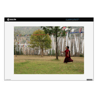 """Young monk and prayer flags skin for 15"""" laptop"""