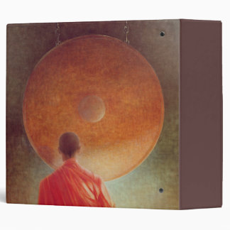 Young Monk with Gong 3 Ring Binder