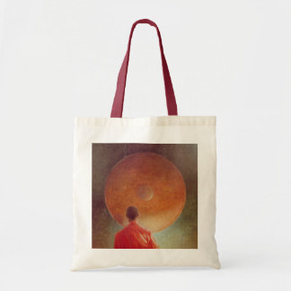Young Monk with Gong Tote Bag