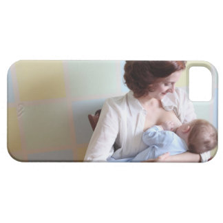 young mother breast feeding her baby boy iPhone SE/5/5s case