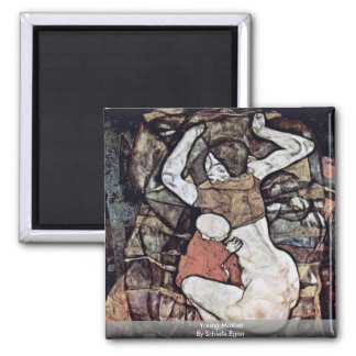 Young Mother By Schiele Egon Magnets