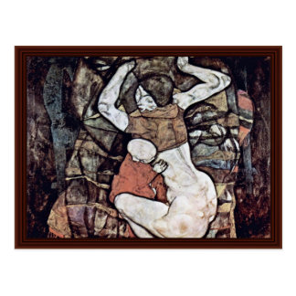 Young Mother By Schiele Egon Postcard
