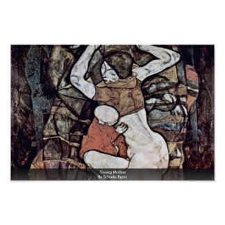 Young Mother By Schiele Egon Posters