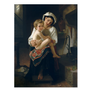 Young Mother Gazing at Her Child - Bouguereau Postcard