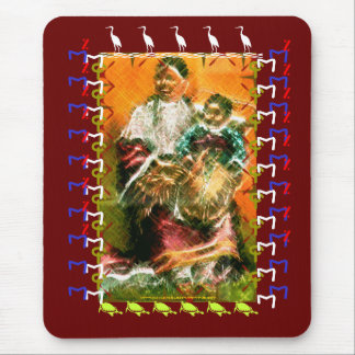 Young mother of MNIKOWOZU,Minnecojou Lakhotah Mouse Pad