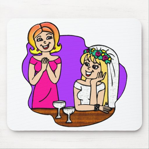 Young Mother of the Bride Mouse Mats