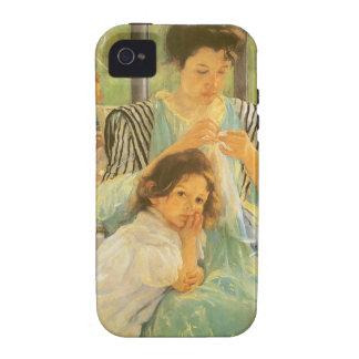 Young Mother Sewing by Mary Cassatt iPhone 4/4S Case