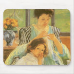 Young Mother Sewing by Mary Cassatt Mouse Pad