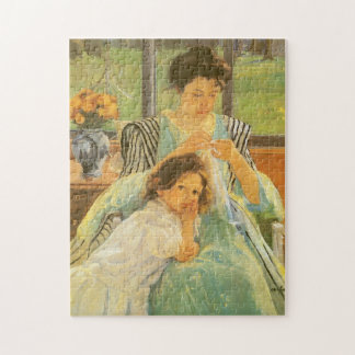 Young Mother Sewing by Mary Cassatt Jigsaw Puzzles