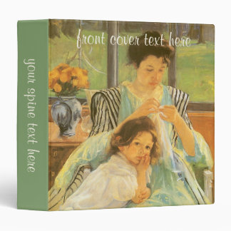 Young Mother Sewing by Mary Cassatt, Vintage Art Binder