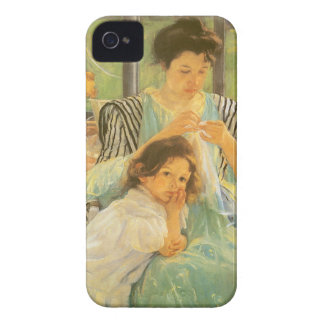 Young Mother Sewing by Mary Cassatt, Vintage Art iPhone 4 Case-Mate Case