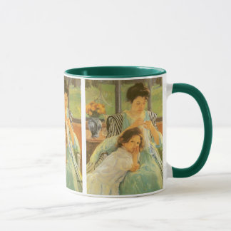 Young Mother Sewing by Mary Cassatt, Vintage Art Mug