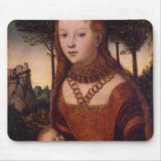 Young mother with child mouse pad