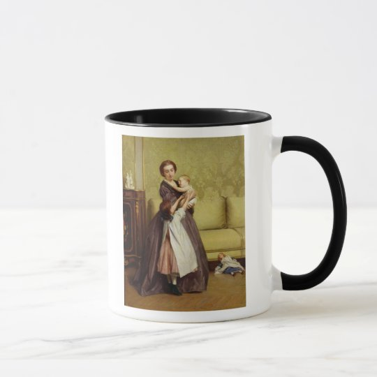 Young Mother with her Children in a Salon Mug