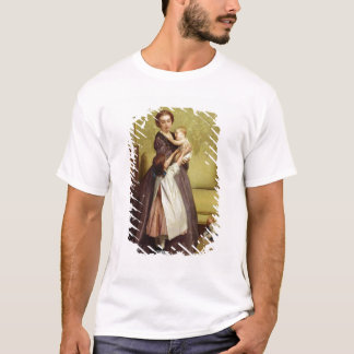 Young Mother with her Children in a Salon T-Shirt