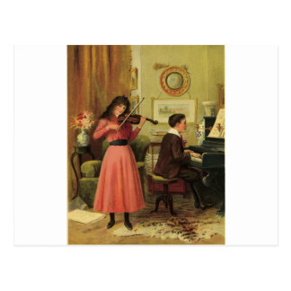 Young musicians post cards
