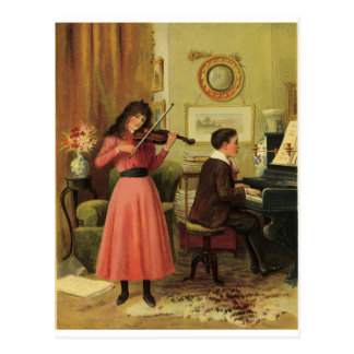 Young musicians post card