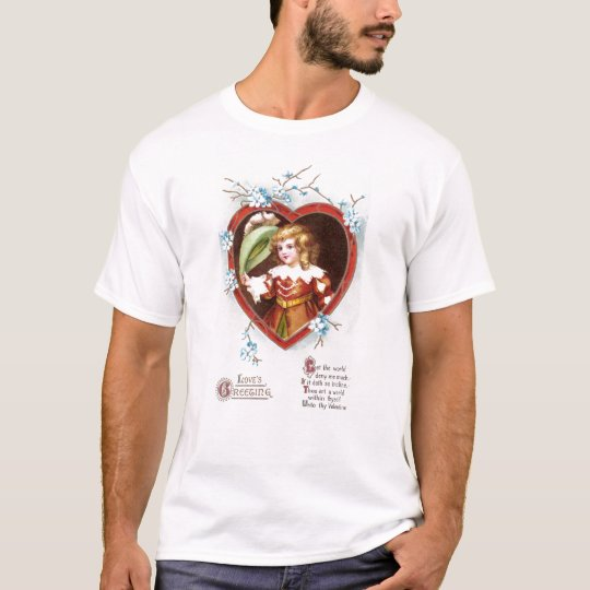 Young Musketeer in Heart Vintage Valentine T-Shirt
