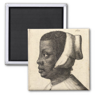 Young Negress 2 2 Inch Square Magnet