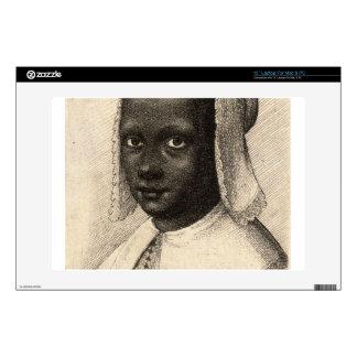 Young Negress by Wenceslaus Hollar Laptop Decal