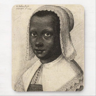 Young Negress by Wenceslaus Hollar Mouse Pad